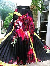 BNWT Stunning COAST Large Flower Print Pressed Pleat Maxi Skirt sz 6 ( rrp £119)