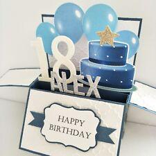 Handmade NAME AGE personalised Birthday Card for boyfriend 21st Birthday card