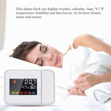 Weather Station Projection Alarm Clock + IN/OUT Temperature Thermometer Humidity