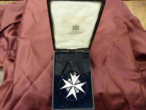 ORDER OF ST. JOHN ENAMELLED GRACE COMMANDER MEDAL RIBBON BOXED G W HINGSTON?