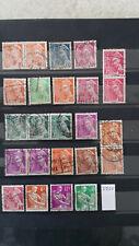 D200 France 24 timbres usagés  entre YT 405 et  1116 type mercure ou moissonneus