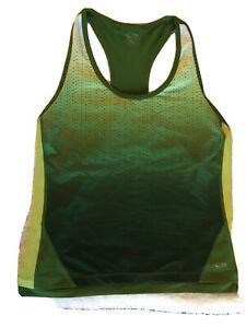 CHAMPION Women's XL Active Tank Racerback, Green, Earphone Pocket