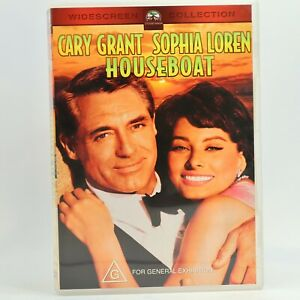 Houseboat Cary Grant Sophia Loren Classic DVD Good Condition Free Tracked Post