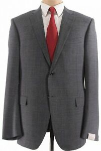 Corneliani NWT Suit Size 44L Gray Black & Red Glen Plaid Wool $2,095