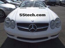Mercedes R230 SL500 SL600 SL55 03~07 Grille Grill Black 1 Fin Style AMG  BK DTR