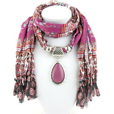 HOTFashion Women Pendant Scarf With Tassel Rhinestone Jewelry Scarves Best Sell