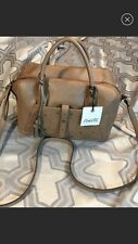New Nanette  Lenore  Leather Satchel With Cross Body Straps New With Tags