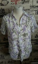 BHS floral print summer blouse short sleeve size 12 UK