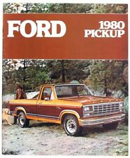 Ford 1980 Pickup Dealer Sales Brochure