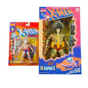 1993 Toy Biz X-Men Wolverine Weapon X Blue Shorts/1994 10in Deluxe Edition VIDEO