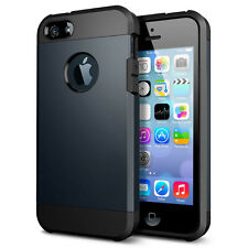 iPhone 5S Case,iPhone 5 Case, Shockproof Armor for iPhone 5/5S/5G - Metal Slate