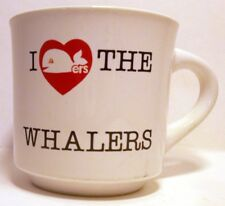 I Love the WHALERS Papel Vintage Coffee Cup Mug Hartford Whalers Whale