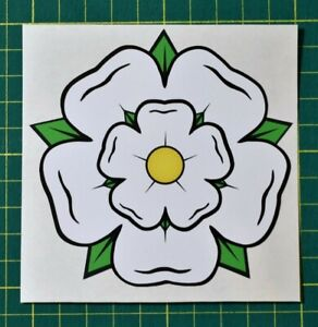 Yorkshire Rose Sticker - White Rose