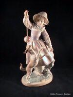 Rare Lladro Girl w/Dog & Ball #5078 Salvador Furio Porcelain Figurine Spain