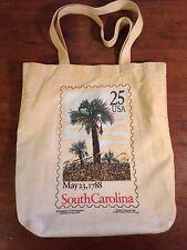 South Carolina Stamp May 23, 1788 Cotton Tote Shopping Bag (1988)