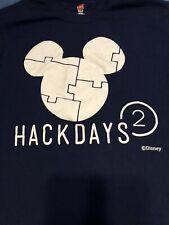 Disney Studios Exclusive Mickey Mouse Hack Days T-Shirt Men's Size Medium Blue
