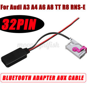 For Audi A3 A4 A6 A8 TT R8 RNS-E 32Pin Bluetooth Module Audio Aux Cable Adapter