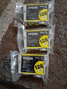 SET OF SEALED EPSON 126 YELLOW DURABRITE ULTRA INK  (3) Lot NEW SEALED