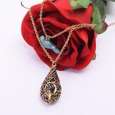 1pc Cute Blue Bird With Cage Necklace Lolita Girls Neckalce Vintage