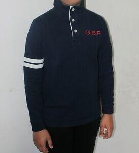 Crew Clothing Kids Boys Pique Navy Cotton Sweatshirt Jumper Pullover 5 8 9 10 11