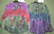 BN JORDASH / DARK STAR DIP DYED  PIRATE SHIRT / BLOUSE / TOP WICCA HIPPY GOTHIC