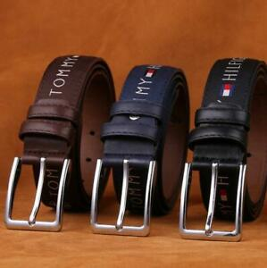 Fashion Men Women Unisex Cool Belts Needle Knot Strap Leather Belt Buckle 110CM