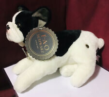Fao Schwarz 12� Lying French Bulldog Stuffed Plush Puppy Dog Nwt