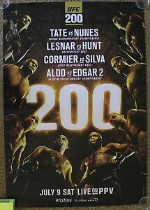 Official UFC 200 Lesnar Silva Aldo Tate Nunes Hunt Poster 27x39 (Near Mint)