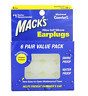 Mack's Pillow  soft Silicone earplugs Putty- Snore, Water Proof / 6 Pair Value
