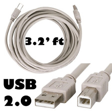 2 Units Lot: 3 Feet USB 2.0 A to B High Speed Cable Cord for Printer Scanner Etc