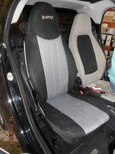 1+1 Synthetik Auto Sitzbezüge, Passt SMART FORTWO 2007-2014 Sitze GRAU SCHWARZ