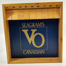 Shut the Box Game Seagrams VO Canadian Bar Dice Game Wood