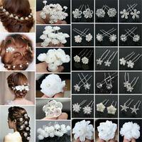 Bride Hair Jewelry Flower Hair Pin Bridal Clips Flower Hair accessories