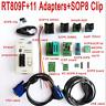 RT809F programmer +11 Adapters + SOP8 Clip + 1.8V /TSSOP8 SOCKET ICSP 24 25 93