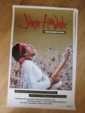 Jimi Hendrix Woodstock 1994 promo poster 18x28