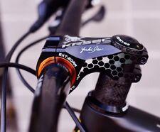 KRSEC Aluminum stems -17° 31.8/35*60mm MTB XC AM Road Bike bar Stem Black Skull