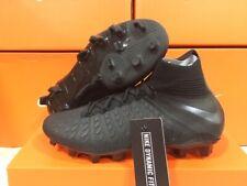 New Nike Junior Hypervenom 3 Elite Df Fg Cleats Black/Black Size: 4 Youth