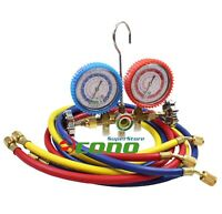 R12 R22 R134A R502 HVAC A/C Auto Refrigerant Charging Service Manifold Gauge Set