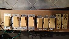 Lutron light switches(3), dimmers(4), and outlets(2)
