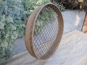 Large Old Vintage Potato Riddle Soil Sieve Garden Riddle Steam Bent Wood  (1041)