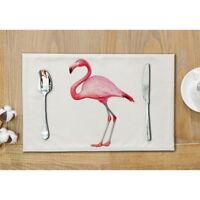 Waterproof Flamingo Placemat Dinin Table Mats Disc Bowl Slip-resistant Pads Mat