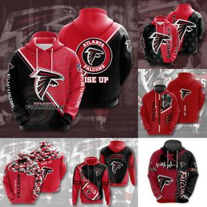 Atlanta Falcons Hoodies Football Hooded Sweatshirts Casual Jacket Pullover Coat