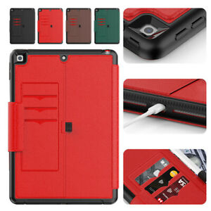 For iPad 8th 7th 6th 5th Gen Air Mini 45 Pro Smart Leather 360 Protective Case