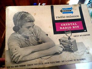 VINTAGE REMCO RADIOCRAFT CRYSTAL RADIO KIT, 1950'S OR 60'S REMCO IND NEWARK NJ.