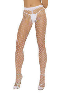 Diamond Net Pantyhose Spandex Fence Industrial Hosiery Nylons Black White 1722