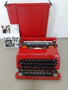 Olivetti Valentine Typewriter w/ Case Red RARE Vintage work Tested