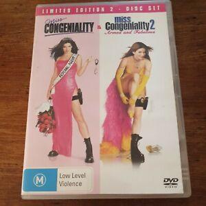 Miss Congeniality 1 + 2 Double DVD R4 Like New! FREE POST