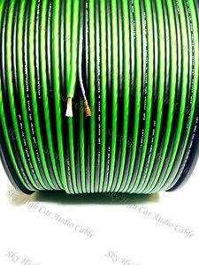 500 ' feet TRUE 16 Gauge AWG GREEN/BK Speaker Wire w/ SPOOL Car Home Sky High ft
