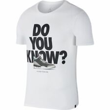 Nike Air Jordan 3 J3 Do You Know T-Shirt White Black Cement Sz Large 943936-100