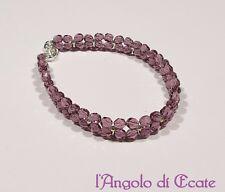 Idea regalo BRACCIALE BRACCIALETTO donna artigianale mezzi cristalli perline